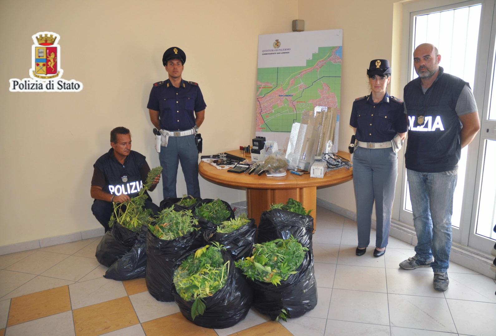 Blitz della polizia allo Zen 2: sequestrati armi e droga