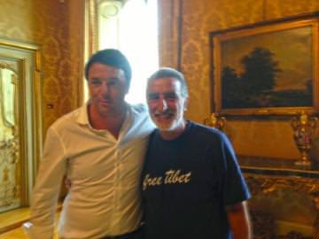 sindaco di Messina, Renato Accorinti, a colloquio con Matteo Renzi