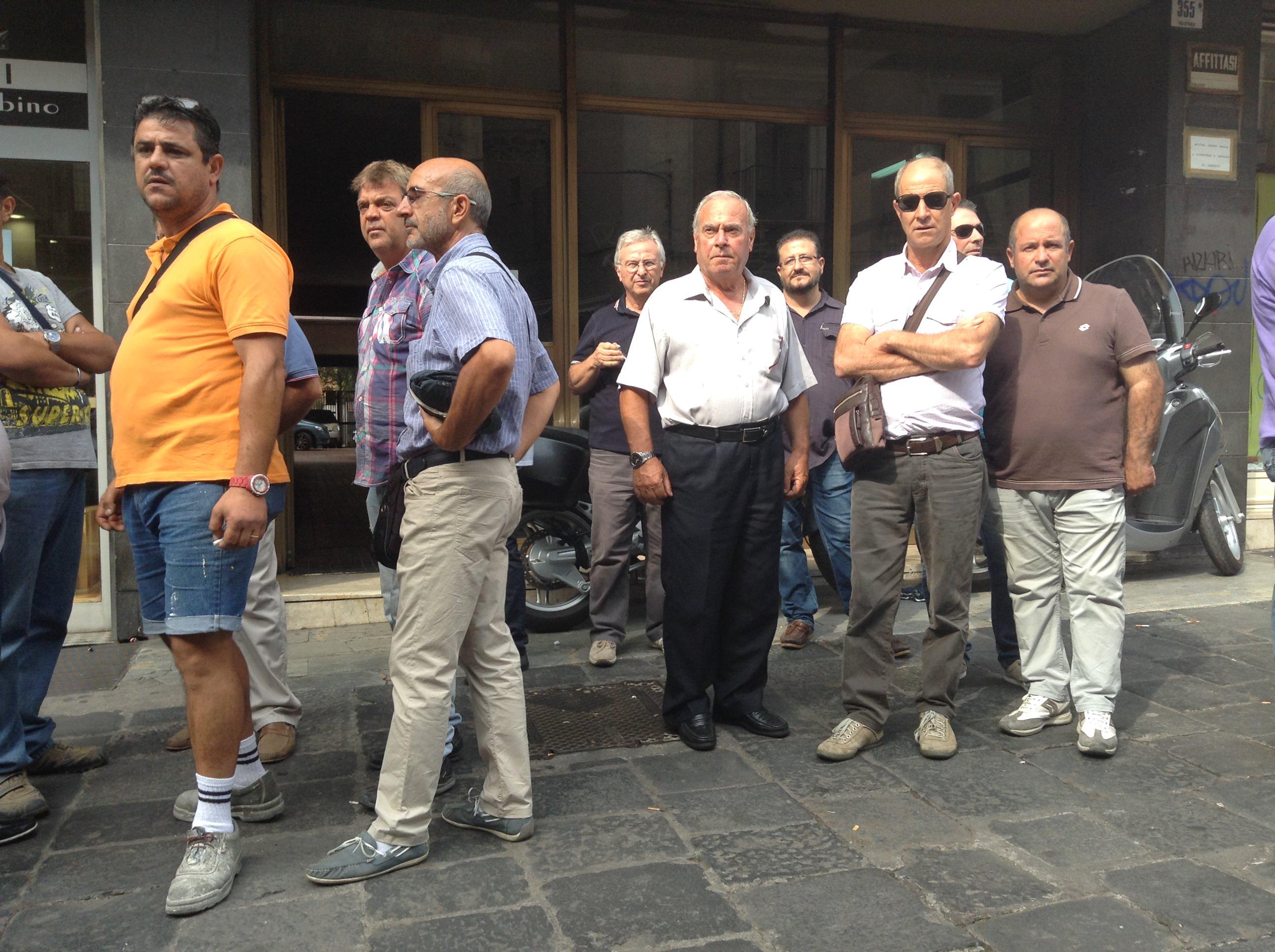 Catania: i forestali in protesta