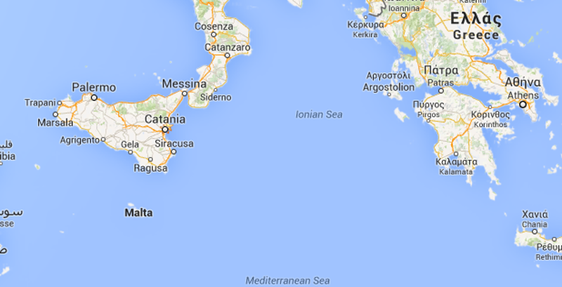 Scossa nel mar Ionio avvertita nel Ragusano