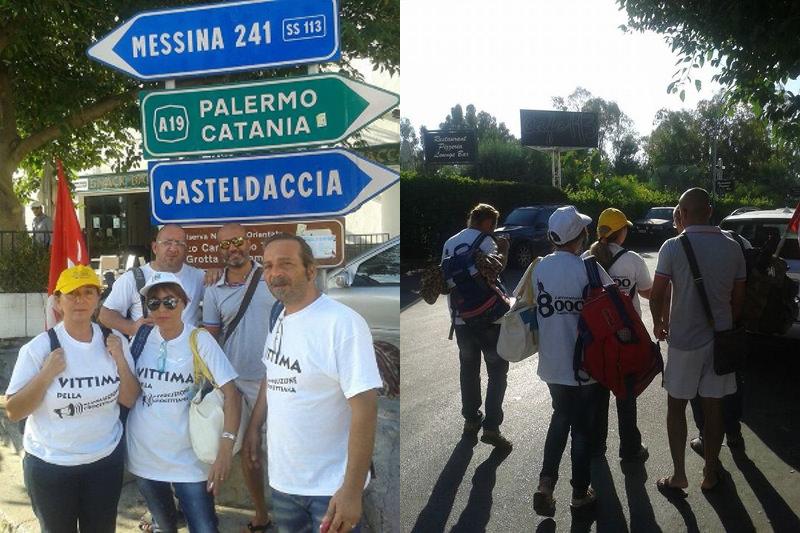 """Formazione, lavoratori in marcia verso Roma: """"Andiamo da Papa Francesco"""""""