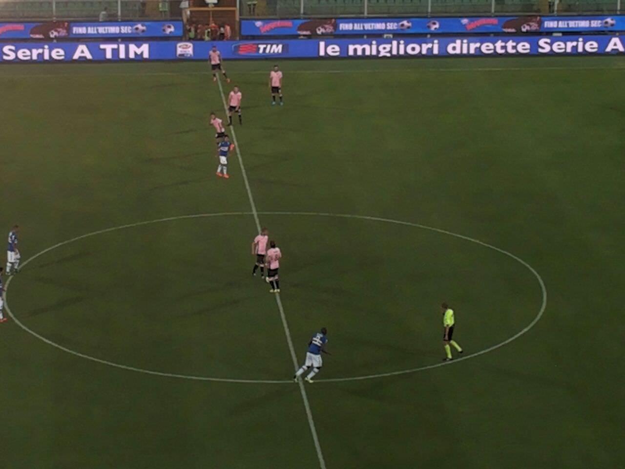 Il Palermo fa un passo avanti, ma con la Samp alla fine è solo pari