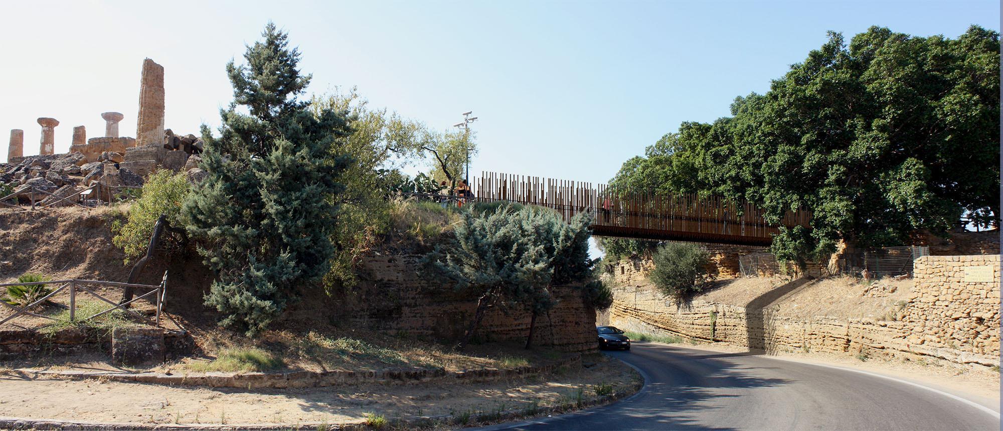 Valle dei Templi: da lunedì i lavori per la passerella