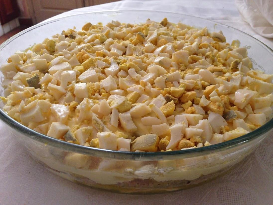 Torta fredda di patate e tonno