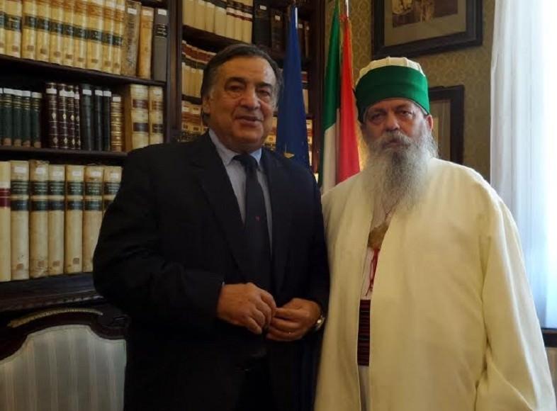 Imam d'Albania a Palermo per incontro privatissimo con Orlando