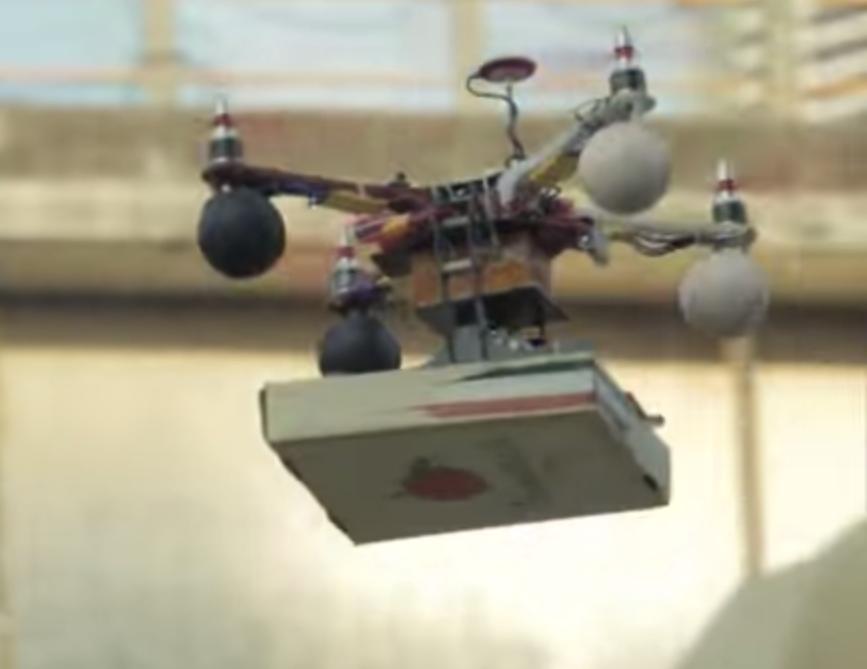 Il drone ti consegna la pizza a domicilio, forse da domani