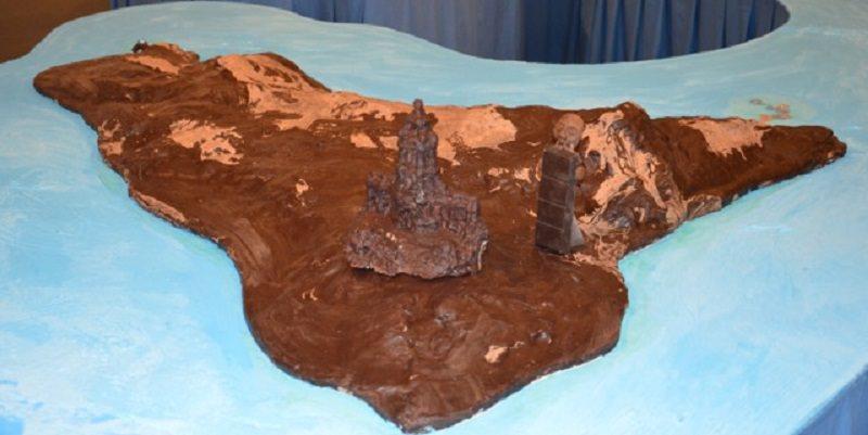A Modica sculture e pitture di cioccolato realizzate dal vivo