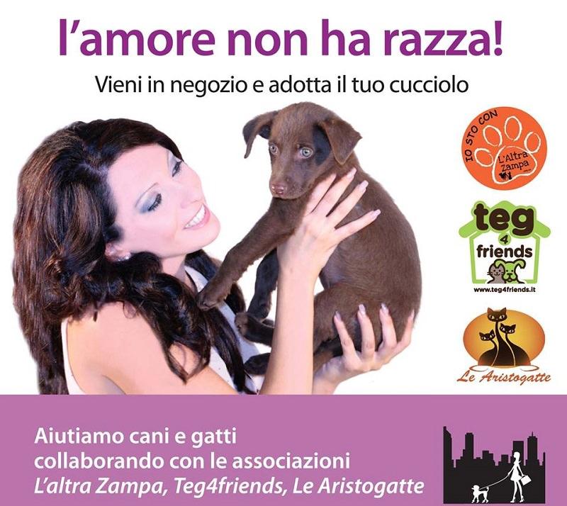 Catania, lo store tra shopping e adozioni: l'amore non ha razza