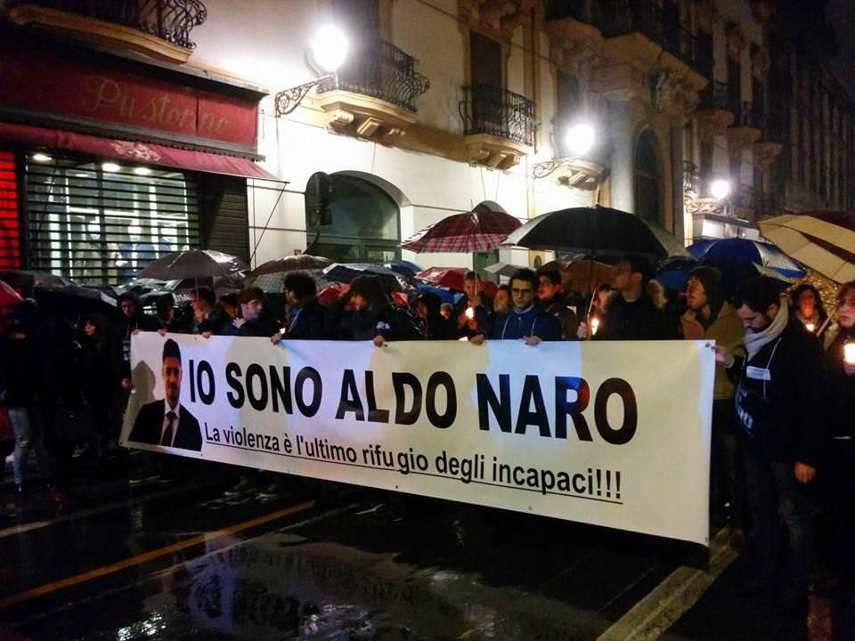 Palermo, in migliaia alla fiaccolata per Aldo Naro