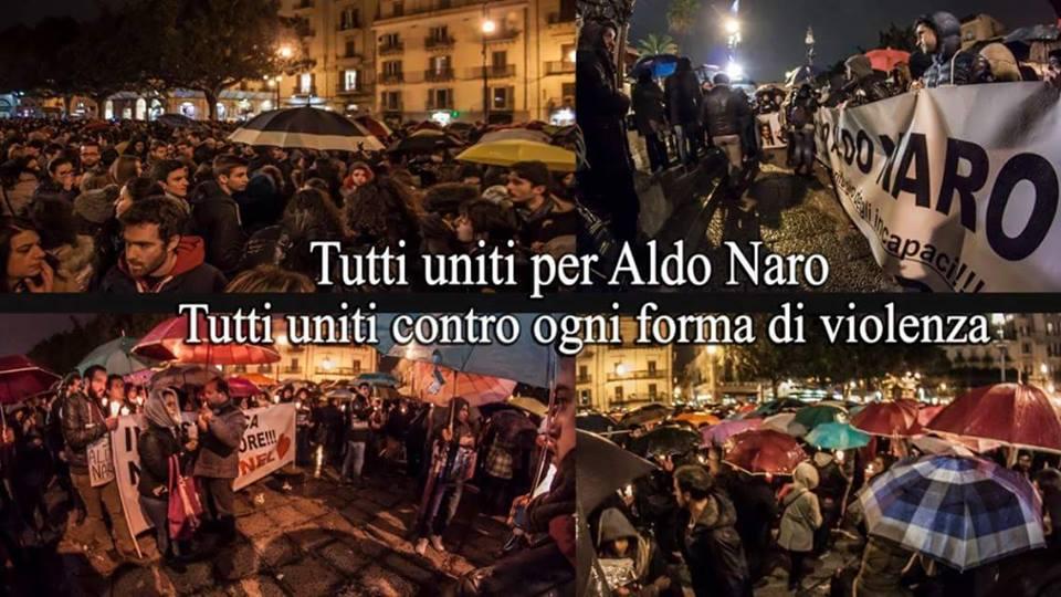 In migliaia ieri sera alla fiaccolata allo Zen per Aldo Naro. Oggi lutto cittadino