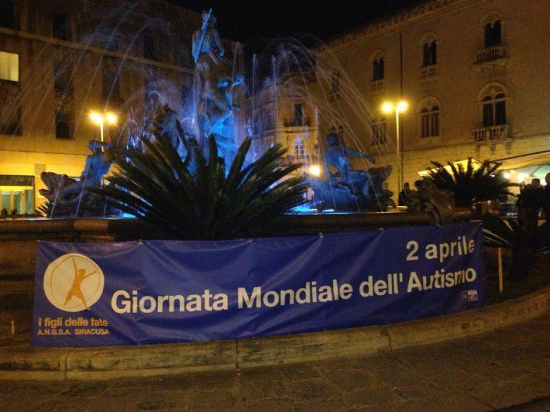 Siracusa, la fontana di Diana si illuminerà di blu