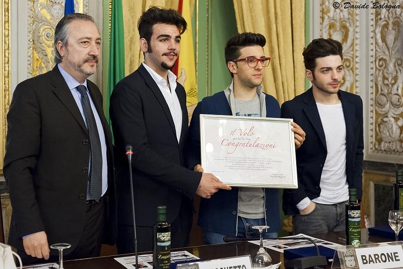 """I ragazzi de """"Il Volo"""" arrivano a Palazzo dei Normanni"""
