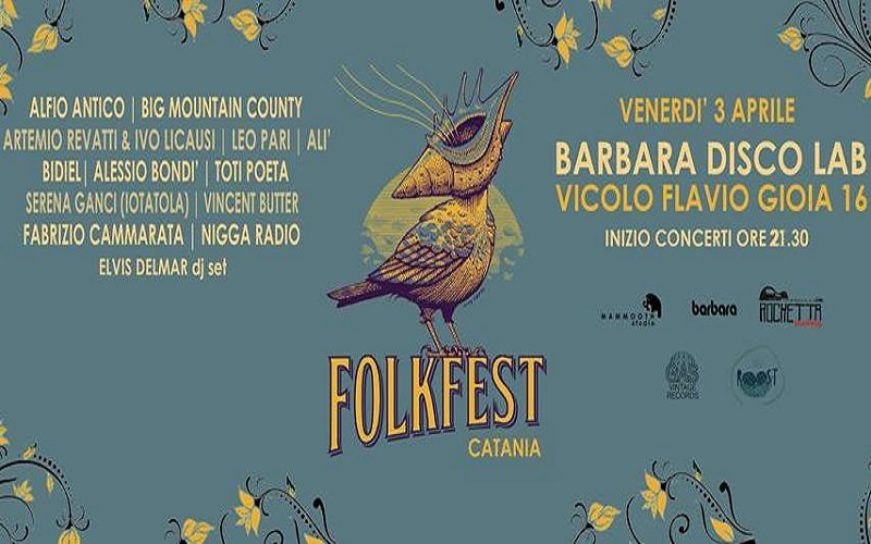 "Catania, al via il ""Folk Fest On Tour"""