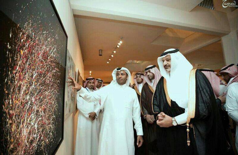 Prima mostra in Italia dell'artista arabo Aref Alghamdi
