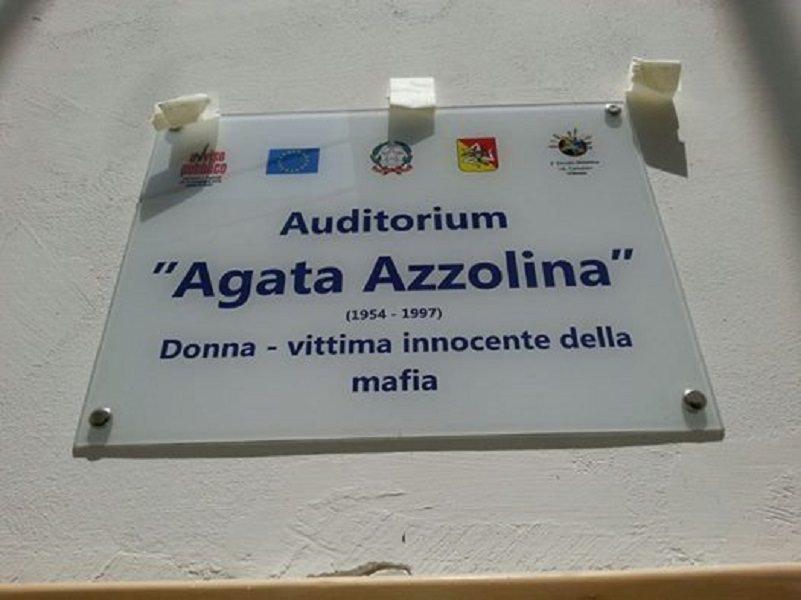 Auditorium di Vittoria dedicato ad Agata Azzolina, vittima di mafia