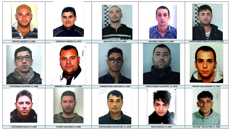 Spaccio e rapine nei supermercati: 13 arresti a Catania