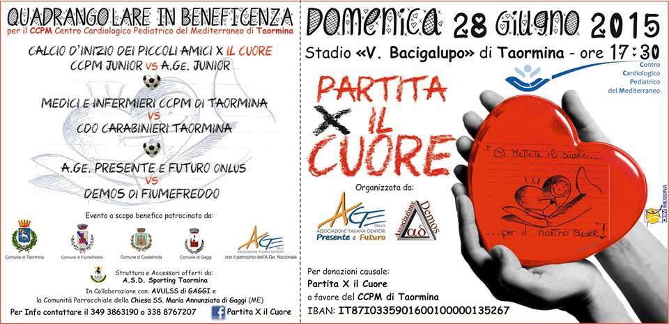 """Domenica a Taormina la """"partita per il cuore"""""""