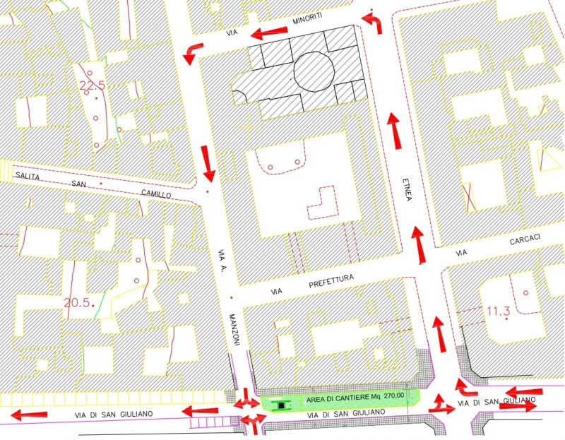 Catania tratto di via sangiuliano chiuso per tre mesi for Ufficio decoro urbano catania
