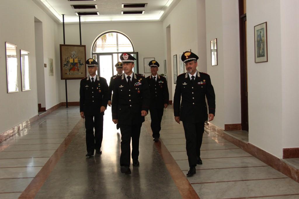 Prima visita ufficiale del nuovo comandante Galletta