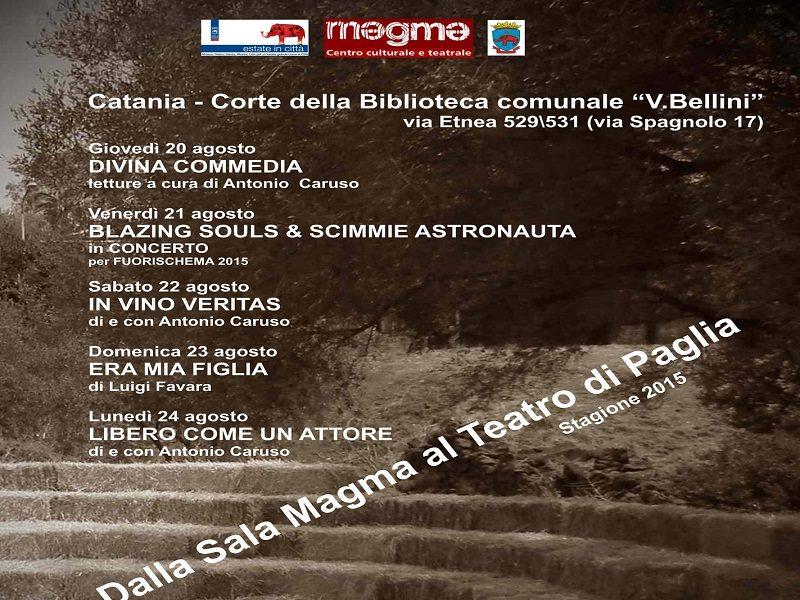 """""""Dalla sala Magma al Teatro di Paglia"""": tra teatro, musica e letteratura"""