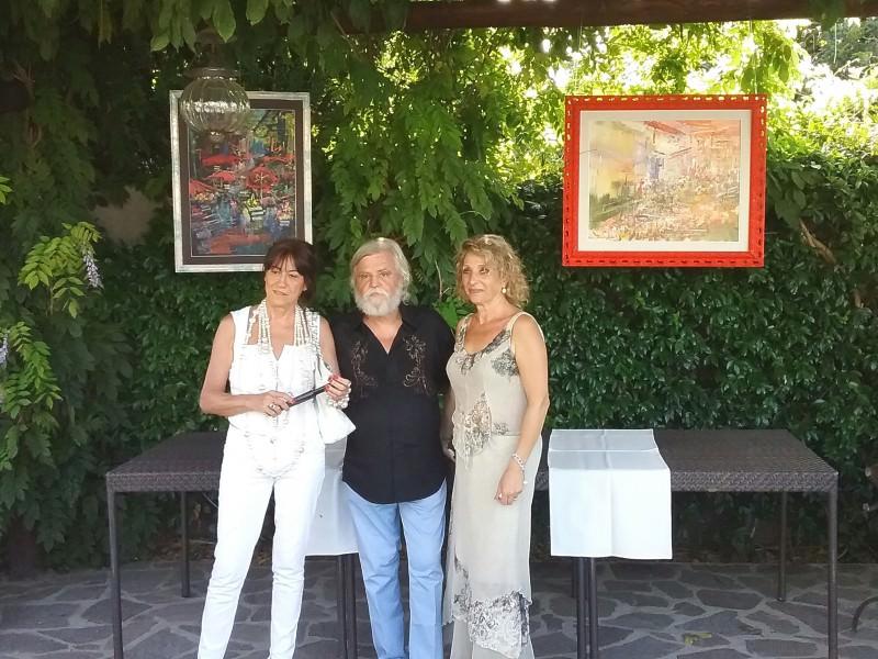 Salina, unanime apprezzamento per le opere di Dimitri Salonia