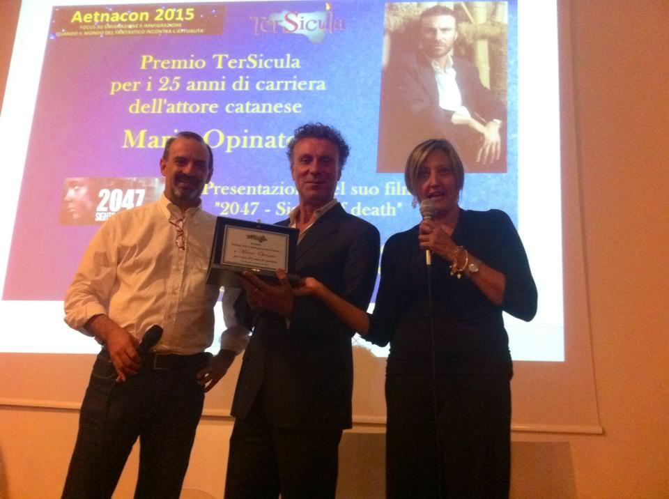 Premio alla carriera all'attore catanese Mario Opinato