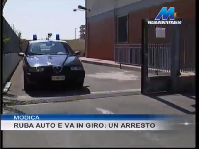 Modica, ruba un'auto e va in giro per il paese: arrestato catanese