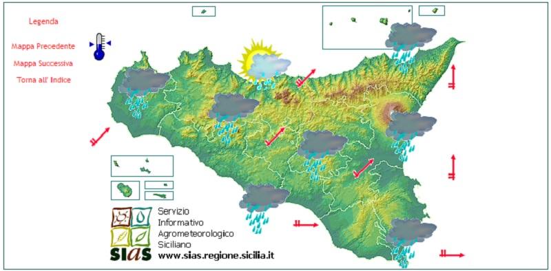 La Sicilia nella morsa del maltempo, piogge e temporali anche nelle prossime ore