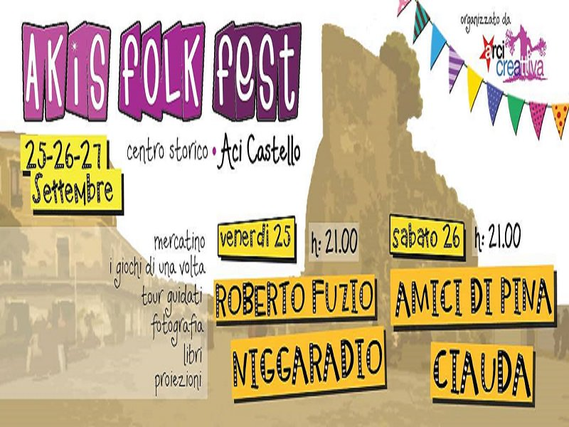 Acicastello: week-end con Akis Folk Fest