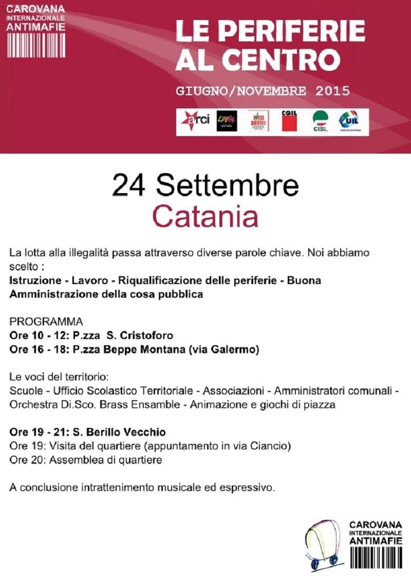 Catania, Carovana Antimafia 2015: domani la presentazione