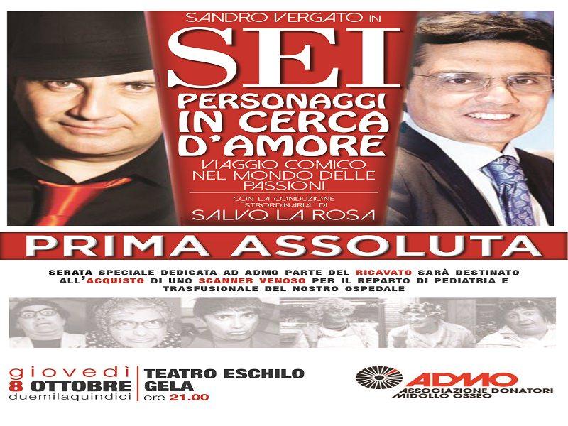 Salvo La Rosa e Sandro Vergato presentano uno spettacolo per ADMO