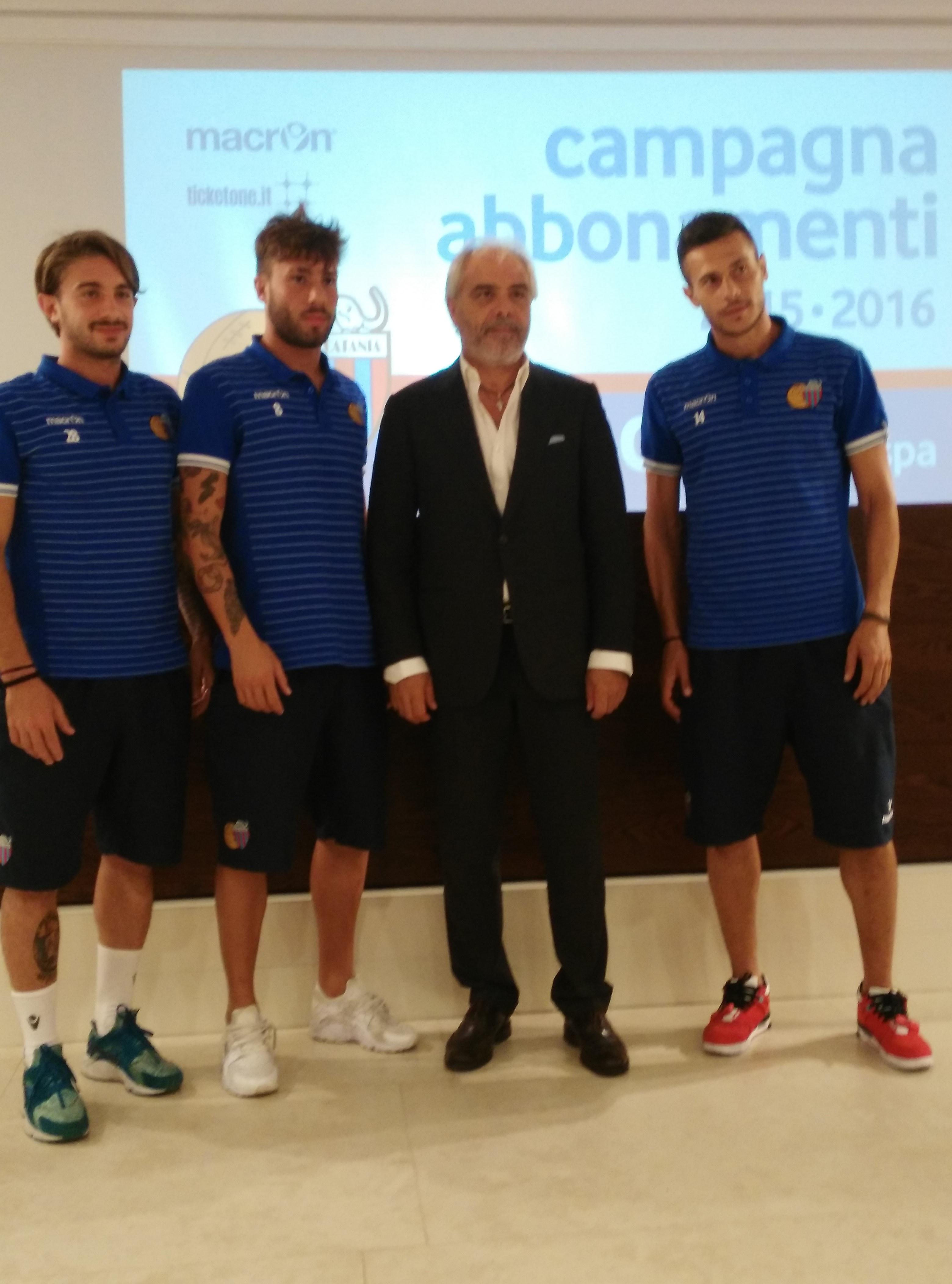 Catania: Pitino presenta Lulli, Russo e Nunzella a Torre del Grifo