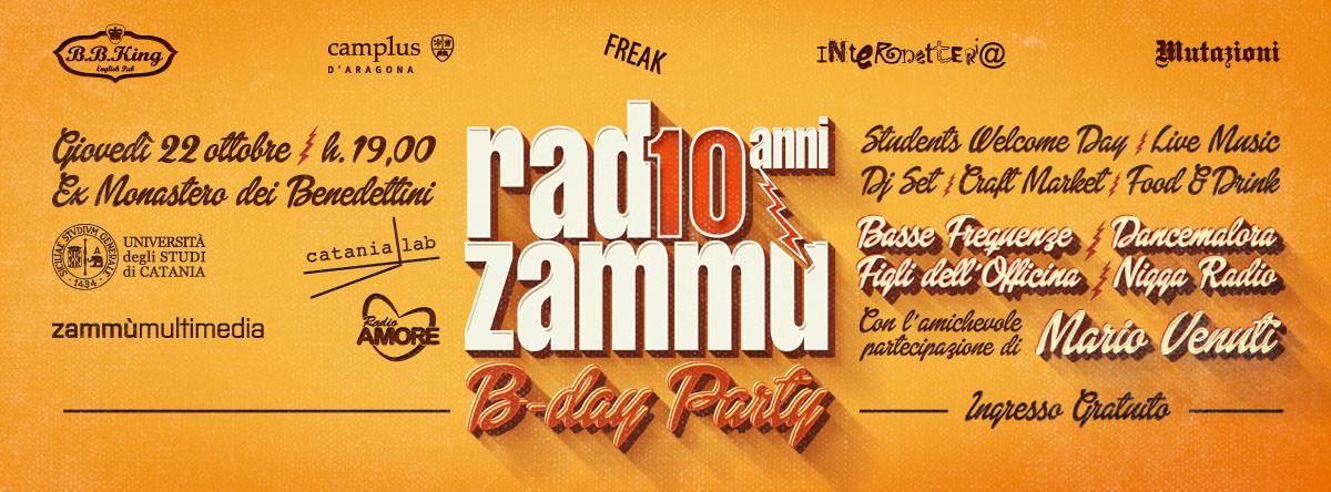#zammu10, auguri Radio Zammù! La radio dell'Università di Catania compie 10 anni