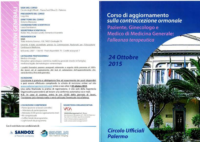 Palermo, su contraccezione ormonale sinergia tra pazienti, ginecologi e medici di base