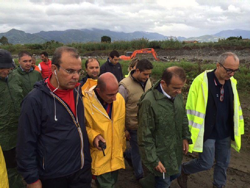 Milazzo, sopralluogo delle istituzioni nei luoghi del disastro