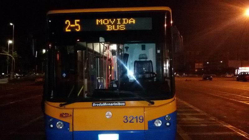 """Il flop del """"2-5 Movida Bus"""": usato solo da chi abita nel centro storico"""