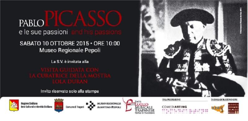 """""""Pablo Picasso e le sue passioni"""" sbarca a Trapani"""