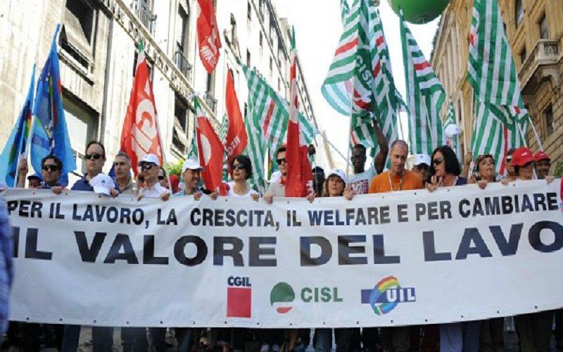 Cgil, Cisl e Uil si mobilitano per gli ammortizzatori sociali a Palermo
