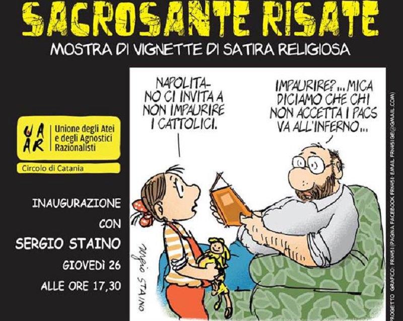 """""""Sacrosante Risate"""", la satira religiosa sbarca a Catania"""