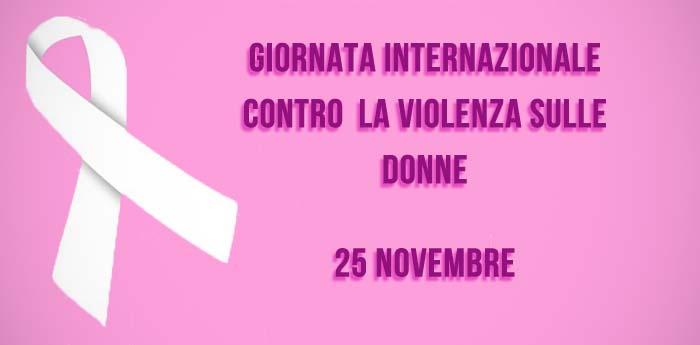 Oggi la Giornata contro la violenza sulle donne