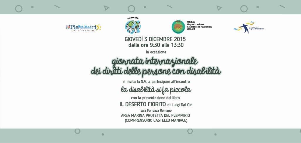 """Giovedì al Plemmirio la """"Giornata internazionale dei disabili"""""""