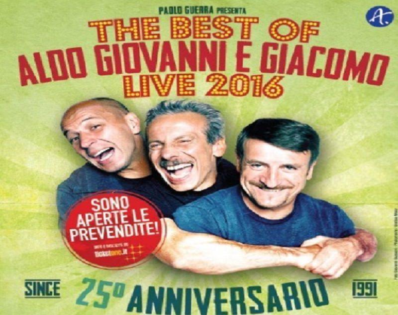 """""""The Best of Aldo Giovanni e Giacomo Live 2016"""" approda ad Acireale"""