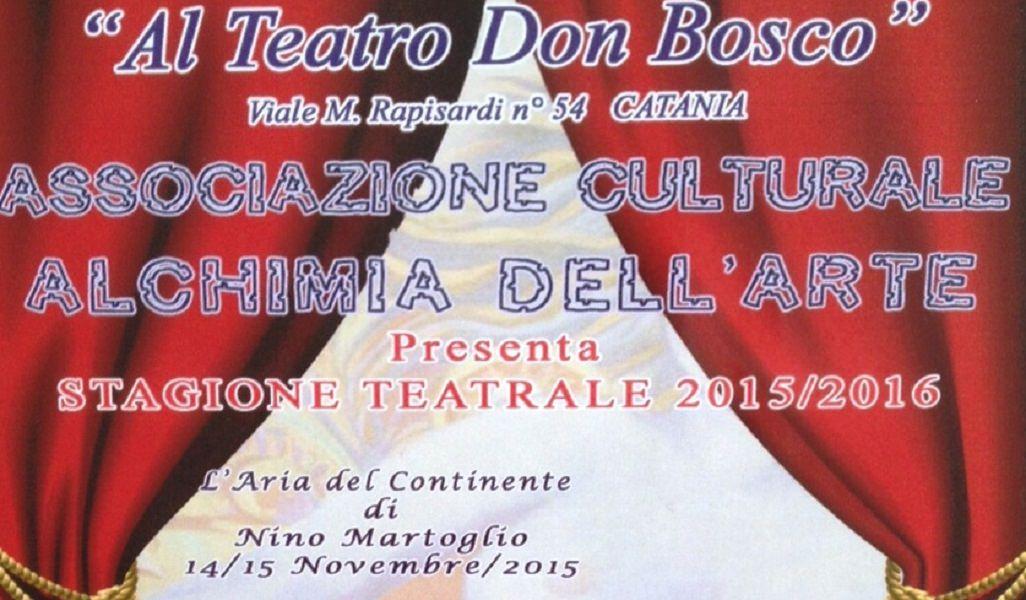 """Teatro Don Bosco: """"L'aria del continente"""" apre la stagione"""