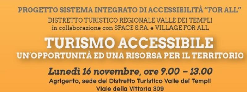 Ad Agrigento seminario sul turismo accessibile