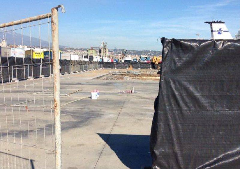 Catania, cedimento alla darsena del porto: cemento depotenziato?