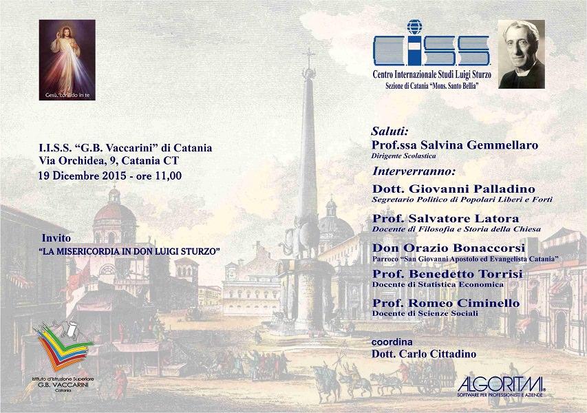 """""""La Misericordia in Don Luigi Sturzo"""": seminario per riflettere sulla società e la politica"""