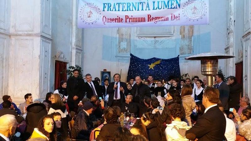 Pranzo di beneficenza a Palermo: presente il sindaco Orlando