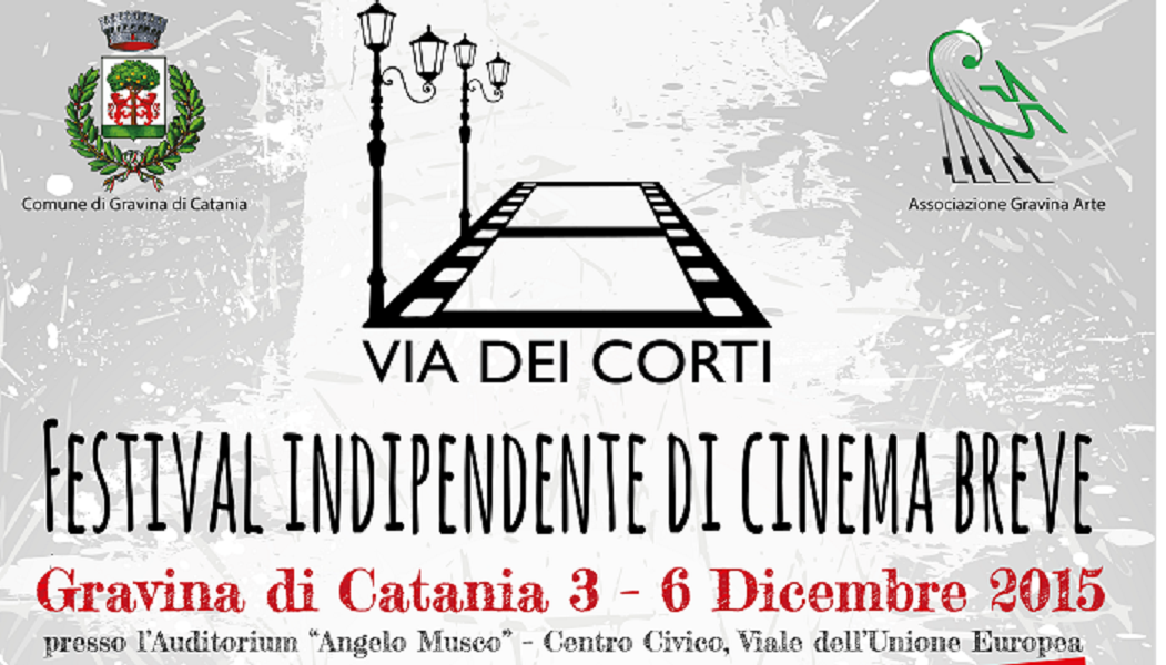 """Gravina di Catania: arriva """"Via dei Corti"""", I festival indipendente di cinema breve"""