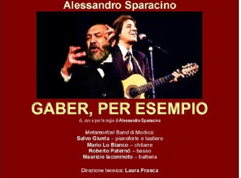"""""""Gaber, per esempio"""", in scena dal 12 dicembre alla Sala Magma di Catania"""