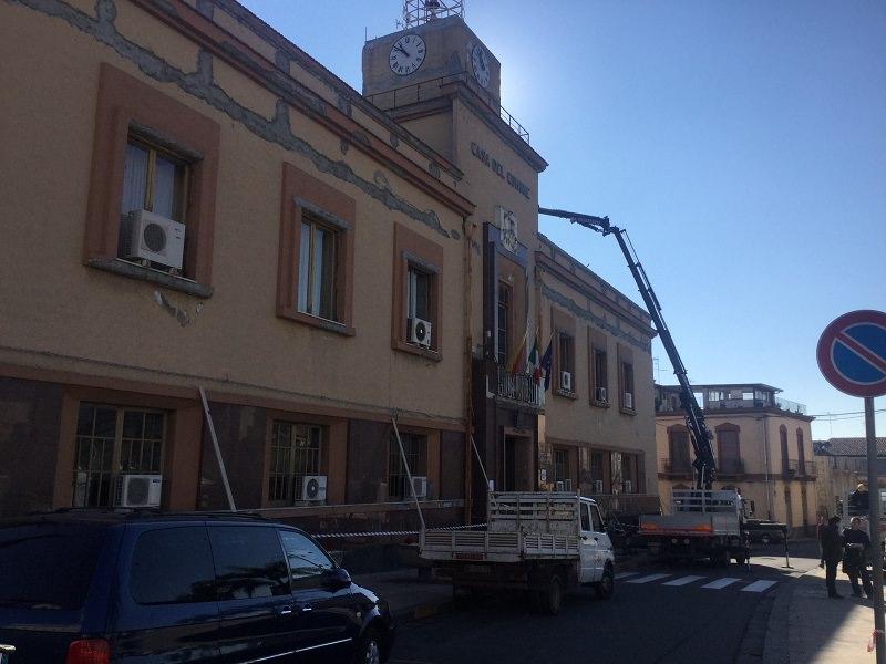 Mascali, danni da maltempo: avviata messa in sicurezza del municipio